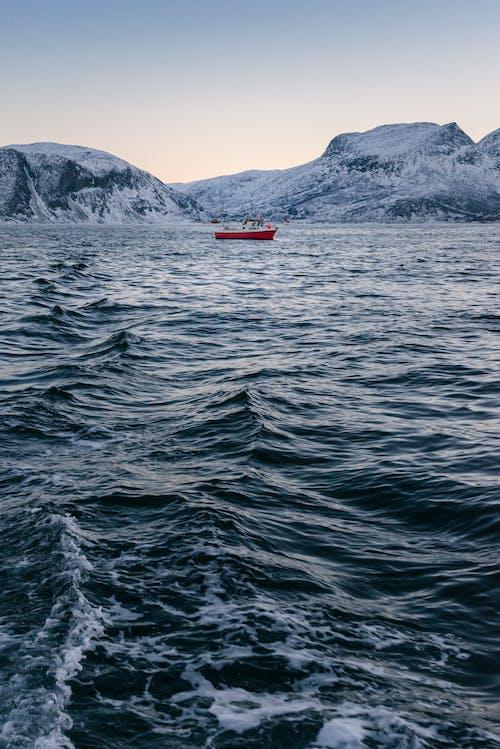 Foto d'estoc gratuïta de aigües blaves, barca, cos d'aigua, esquitxada