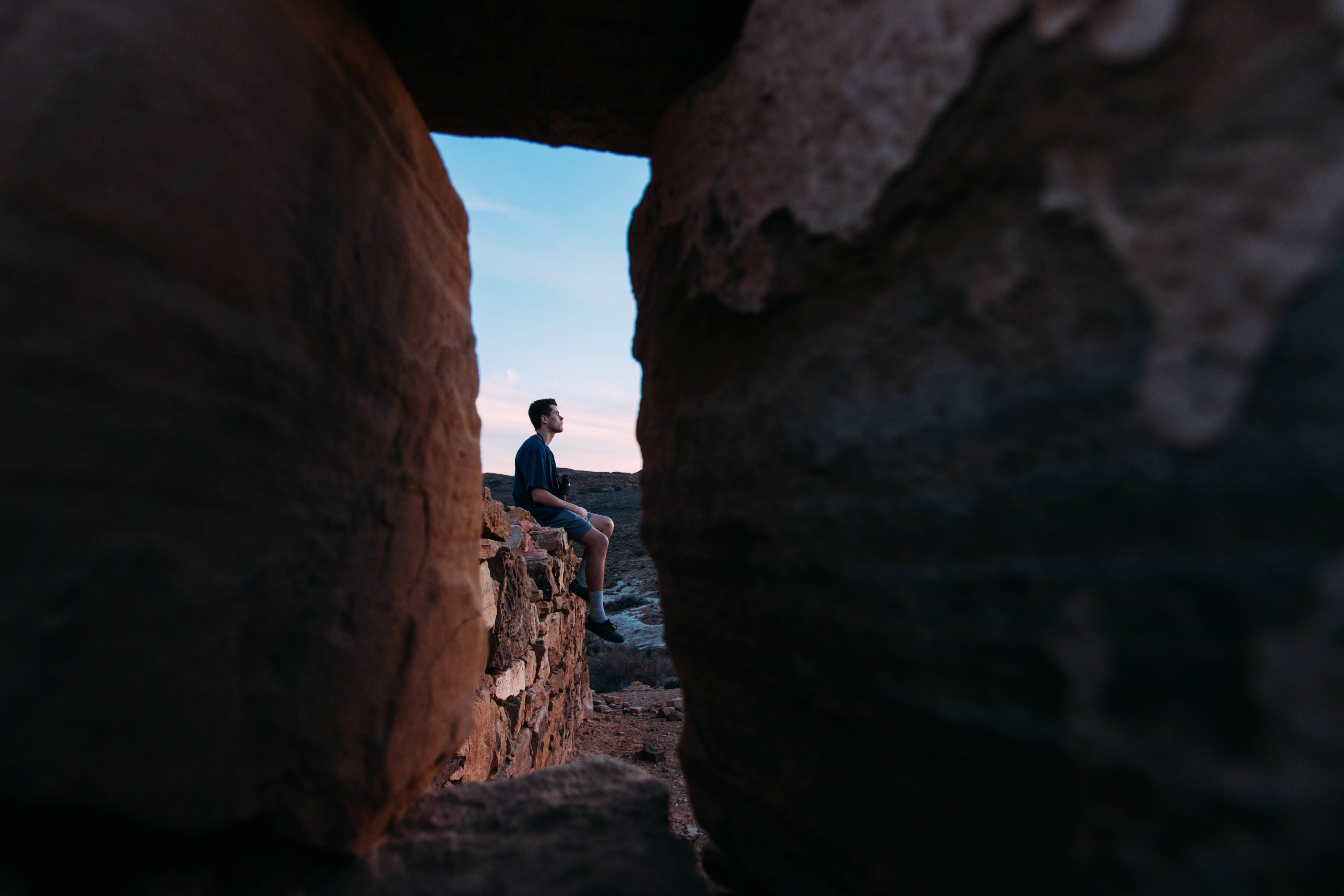 Kostenloses Stock Foto zu aussicht, challenge, eingang, einsam