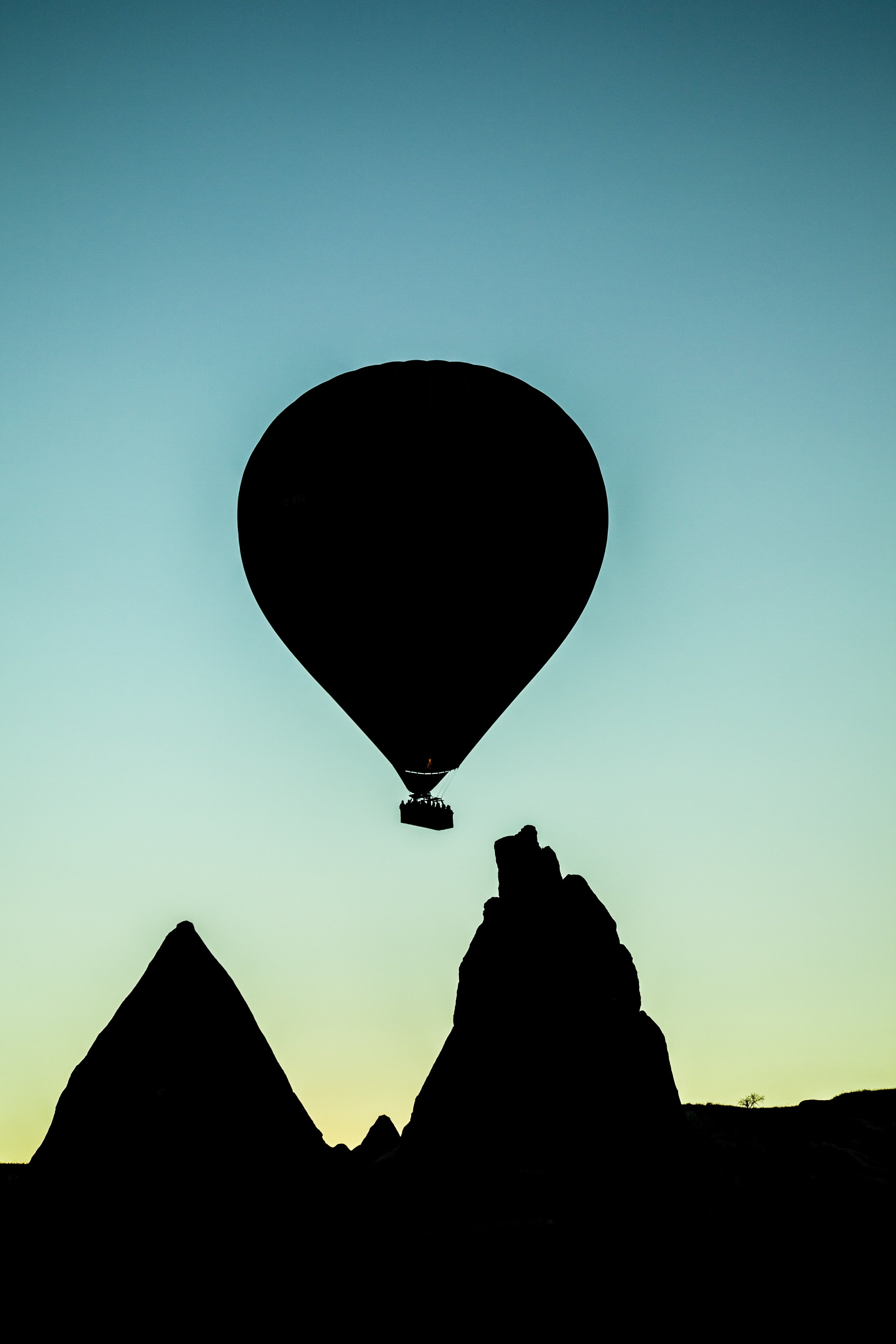 Free stock photo of flying, hot-air balloon