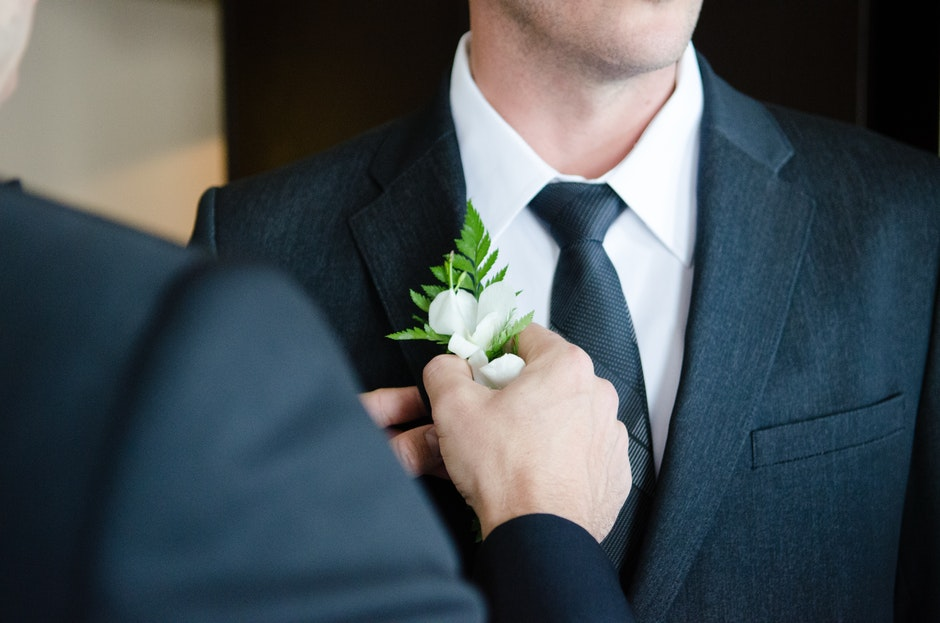 best man, buttonhole, celebration