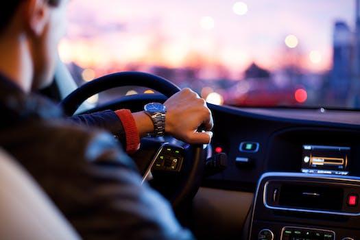 Person Wearing Black Shirt Driving Vehicle during Daytime