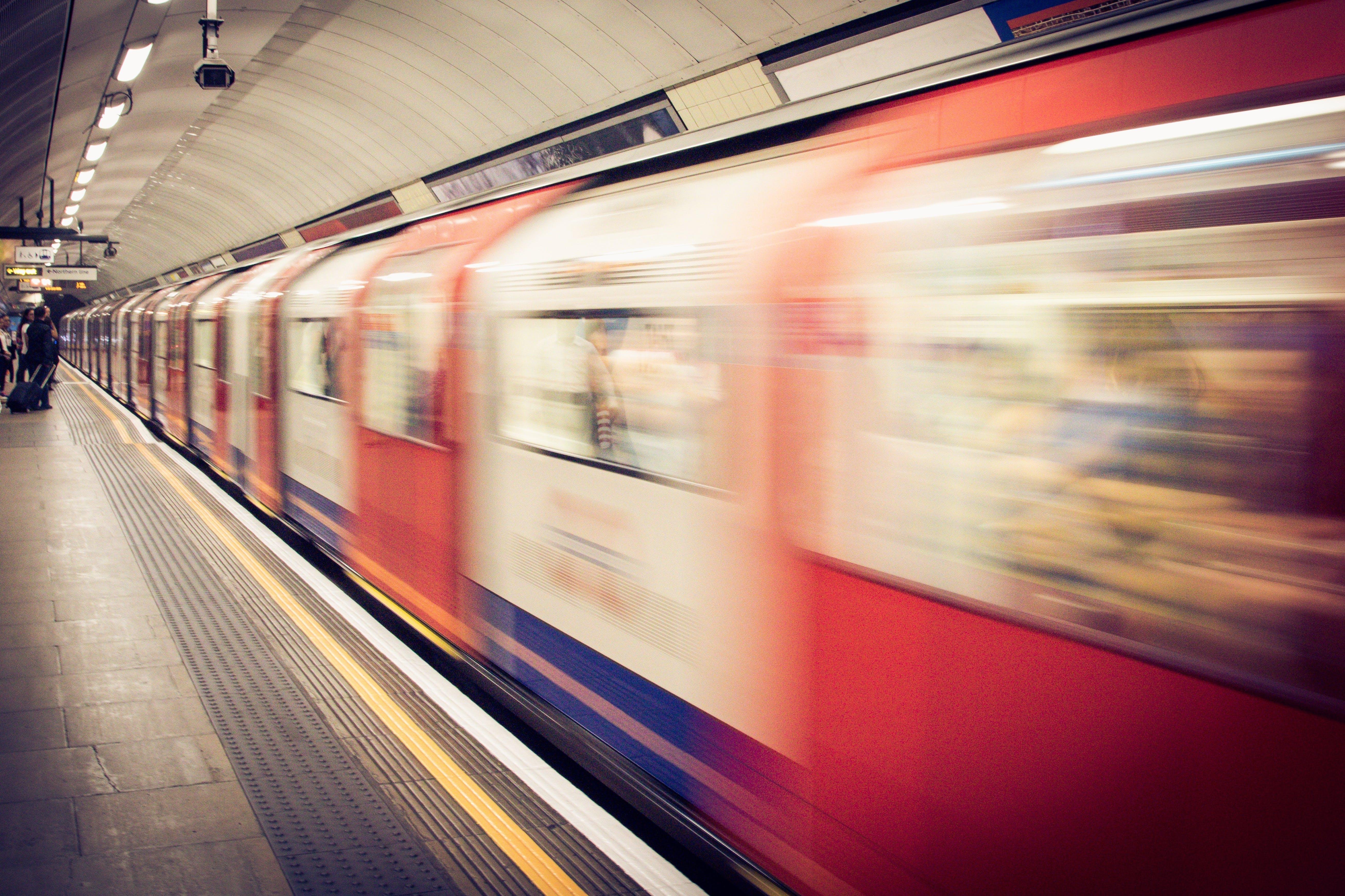 Free stock photo of people, train, motion, underground