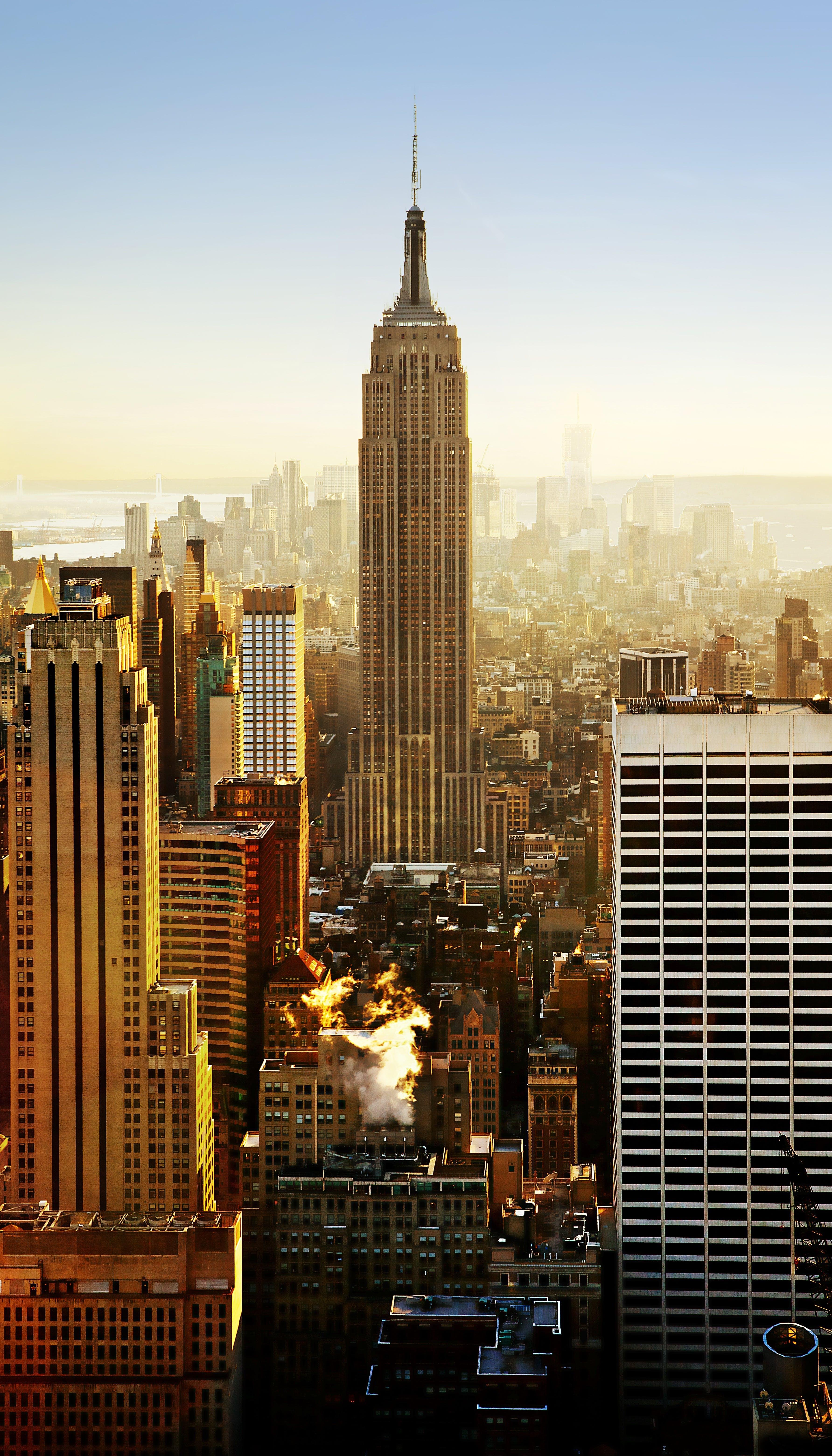 Kostenloses Stock Foto zu aussicht, empire state building, gebäude, hochhäuser
