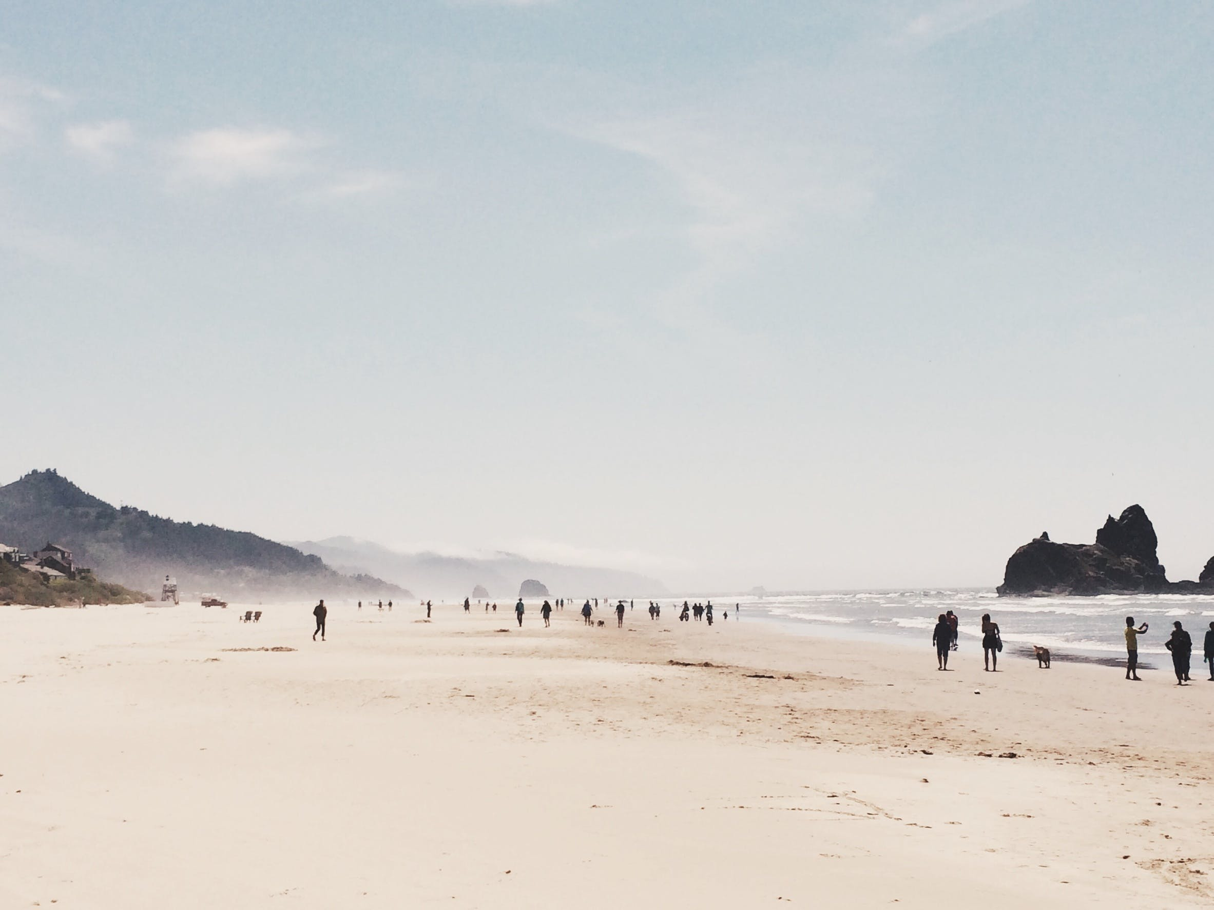 Free stock photo of sea, sky, beach, people