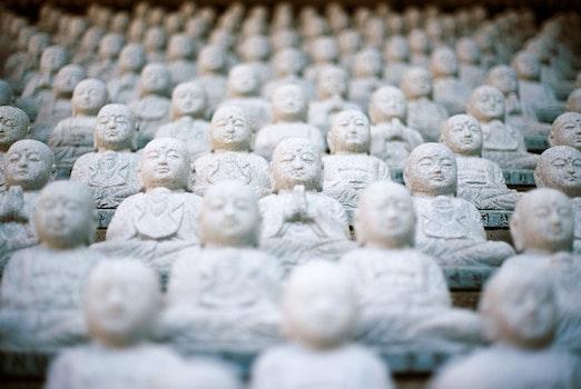 White Buddha Ornaments