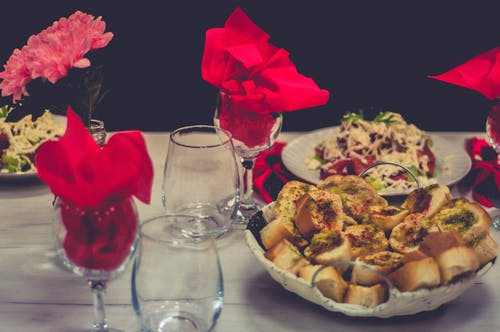 Free stock photo of at table, flowers, food