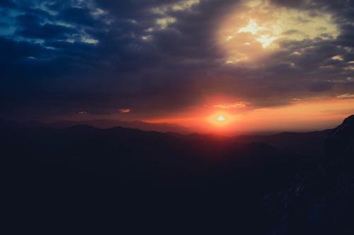 Free stock photo of clouds, dark, dark sunset
