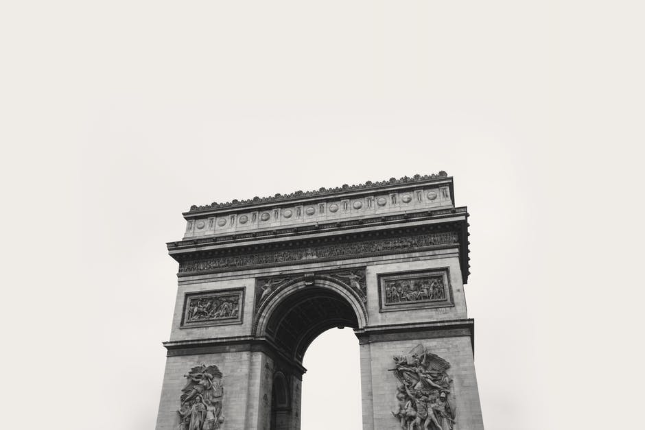 New free stock photo of black-and-white, france, landmark