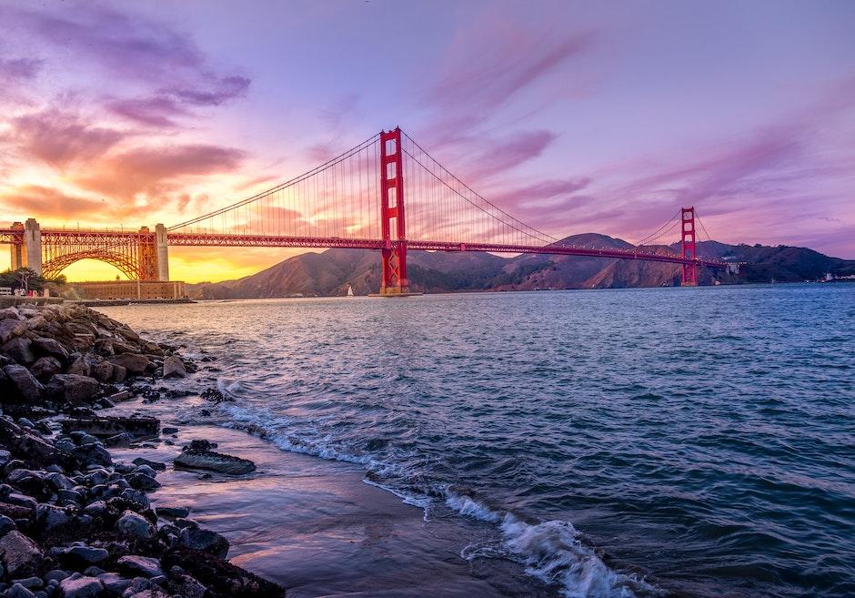 bridge, golden gate bridge, landmark
