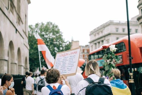 Fotobanka sbezplatnými fotkami na tému demonštrácia, Londýn, protest, vlajky