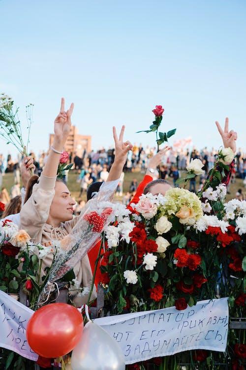 Female Protester in Belarus