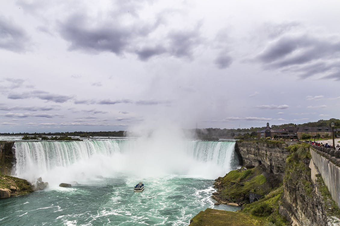 attraction touristique, brume, cascade