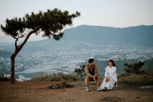 Základová fotografie zdarma na téma asijský pár, dvojice, etnický, flóra
