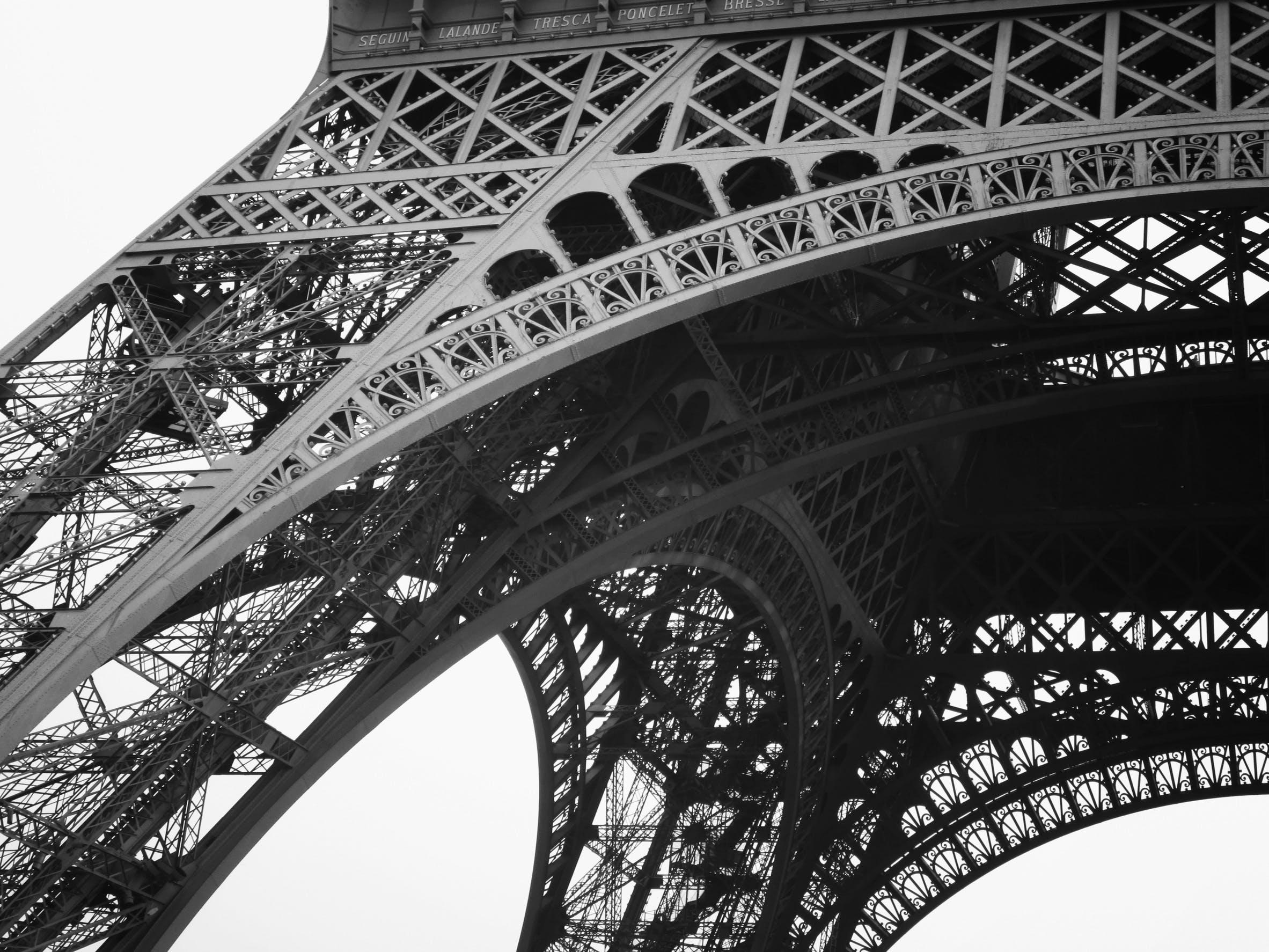 Free stock photo of black-and-white, eiffel tower, france, landmark