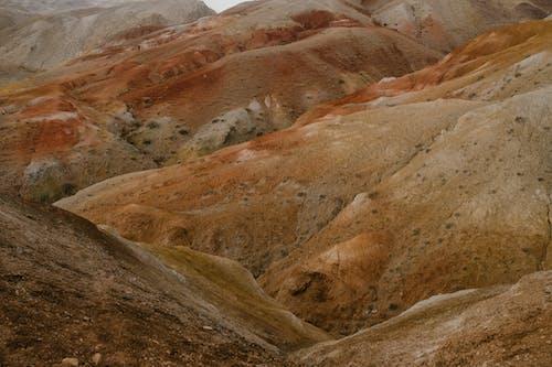 Rough rocky formations in mountainous terrain