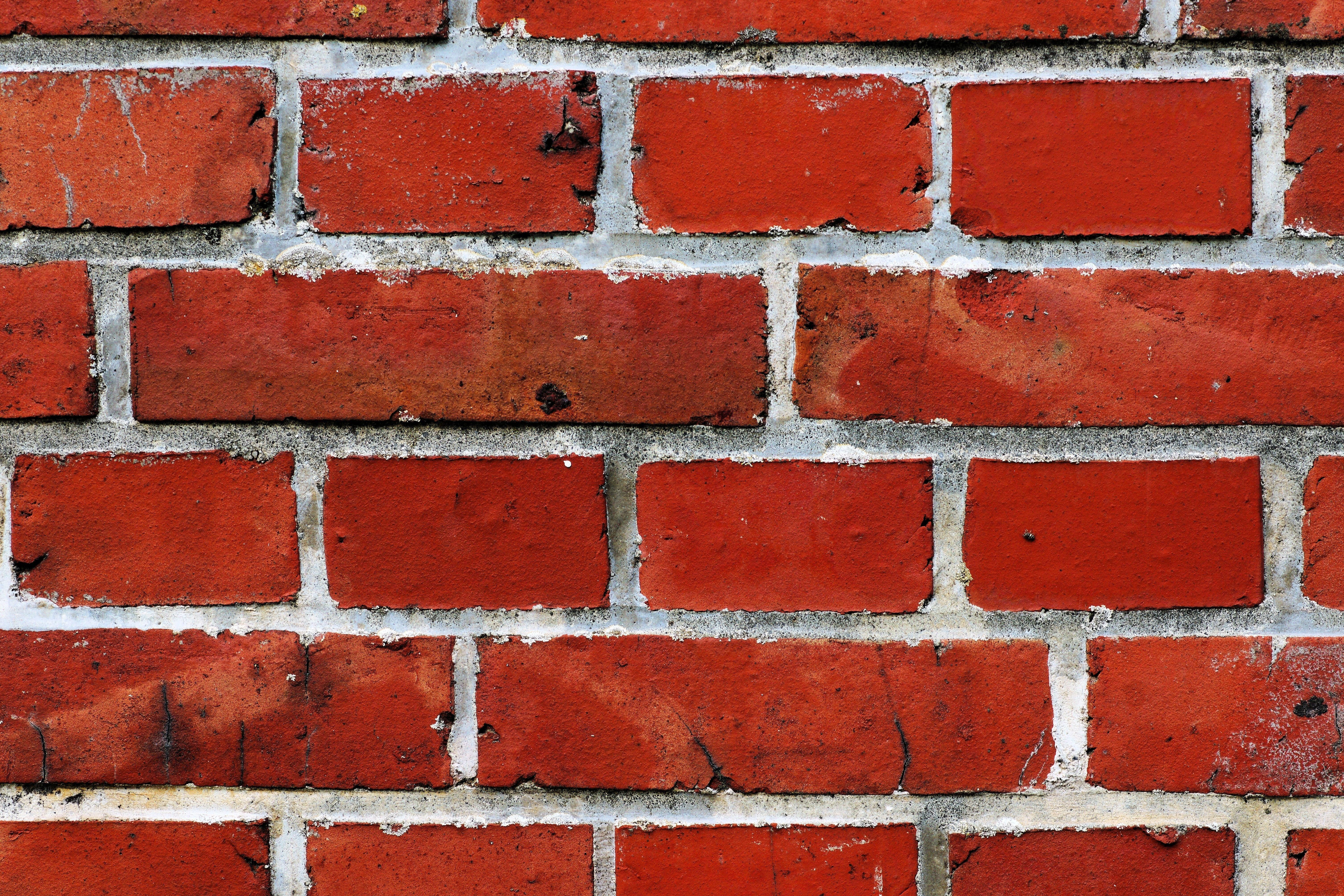 Red brick wall free stock photo - Pintura color ladrillo ...