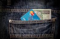 jeans, money, cash
