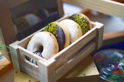 Sushi on White Wooden Tray