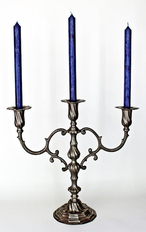 antyczny, dekoracje stołu, niebieski