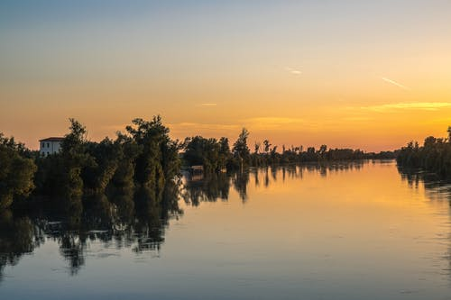 Free stock photo of adige, river, sunset