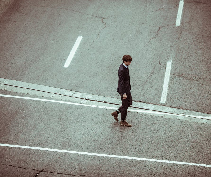 Free stock photo of businessman, crossing, elegant