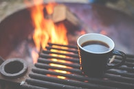 coffee, drink, fire