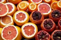 fruits, citrus, pomegranate