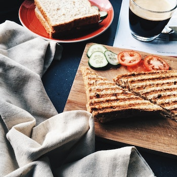 Toasted Sandwich With Tomatoes and Cucumbers