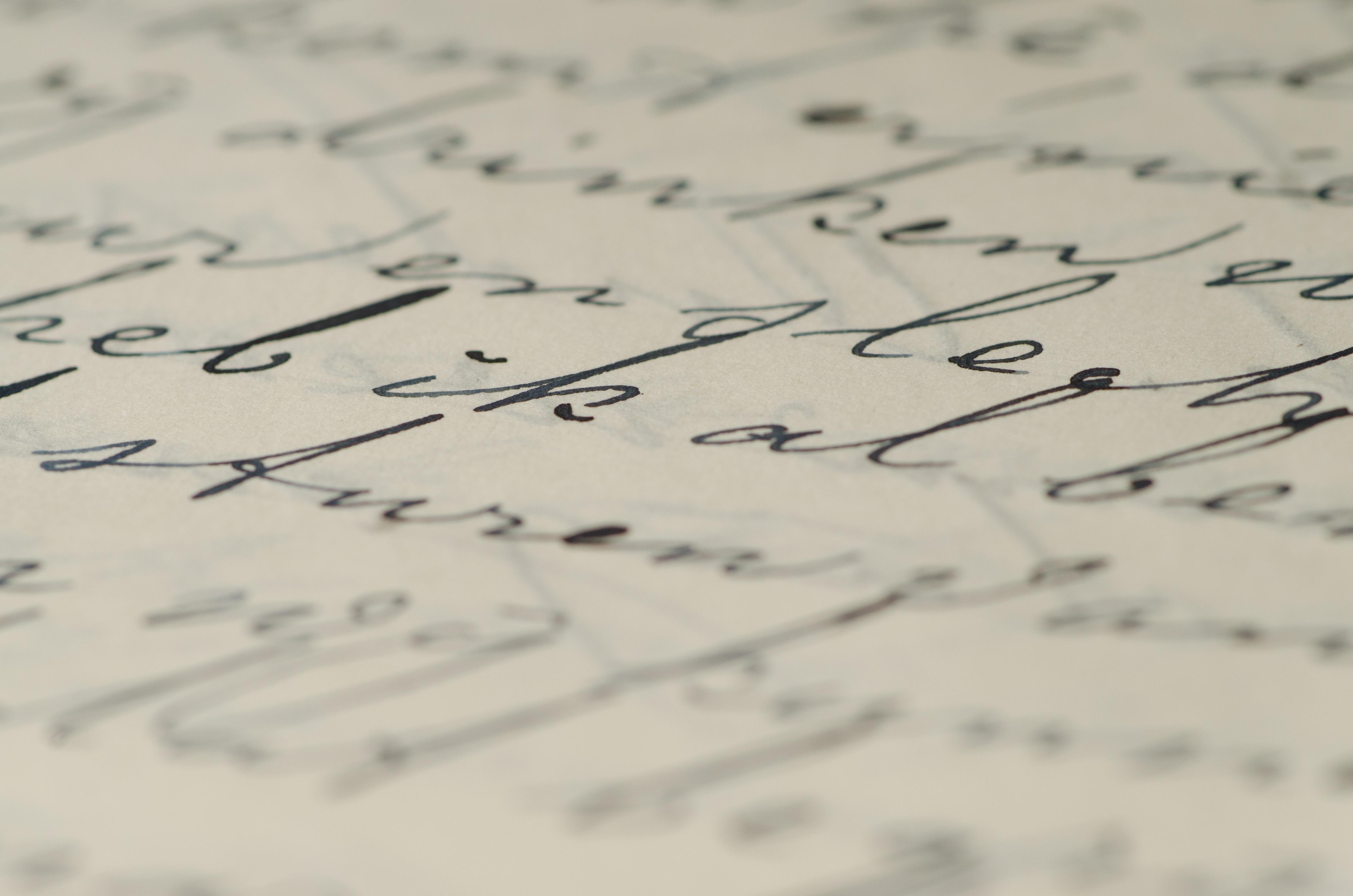handwriting on paper