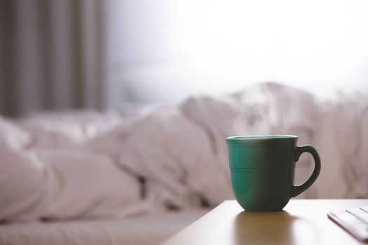 Free stock photo of coffee, cup, mug, bed