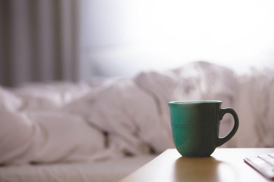 bed, bedroom, breakfast