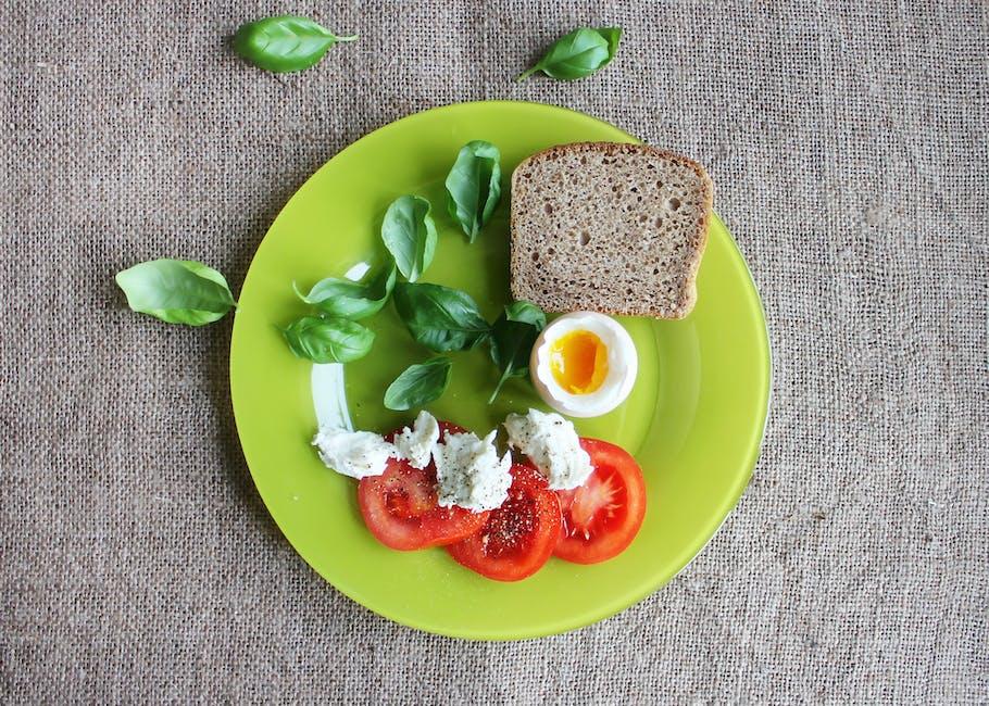 Bread on Green Ceramic Plate