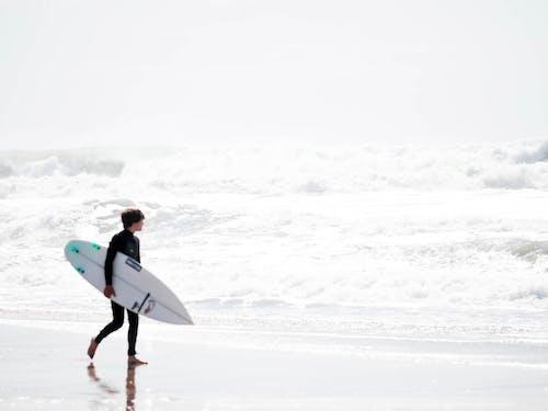 Free stock photo of actividad de playa, agua de mar, cielo