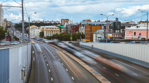 Free stock photo of big city, busy road, cars, cars driving