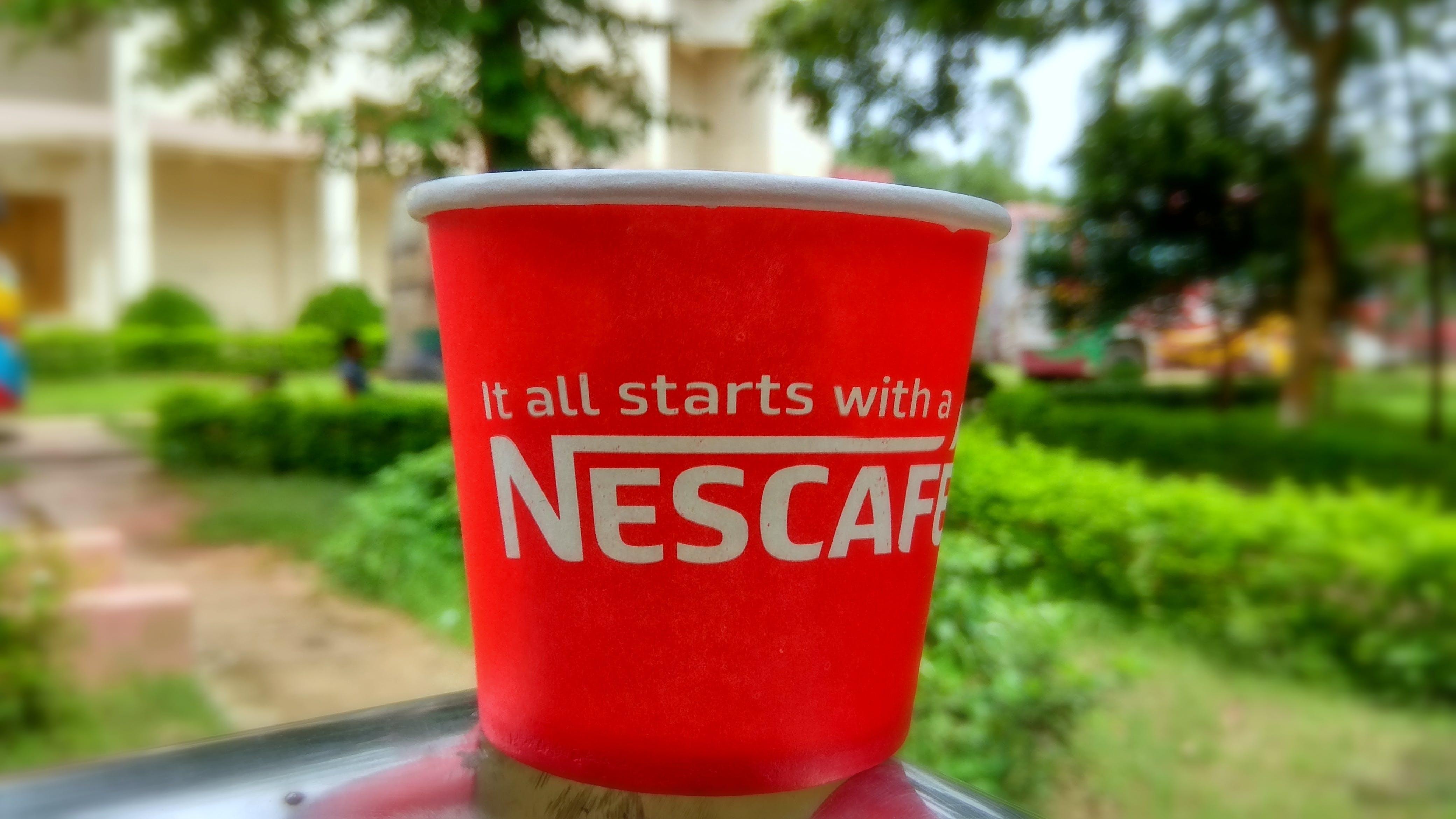 Free stock photo of #Coffee #Nescafe #Bokeh #Nature #green #drinks