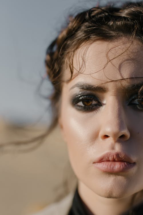Woman With Brown Eyes and Brown Eyes