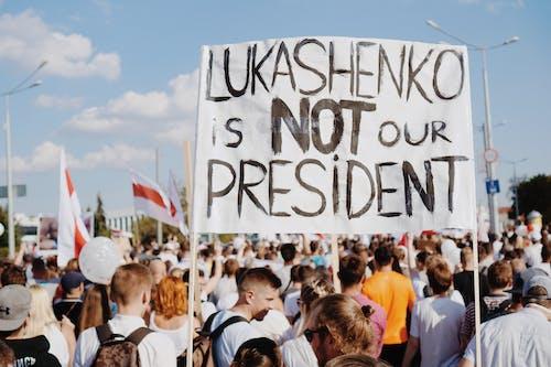 Les Manifestants En Biélorussie