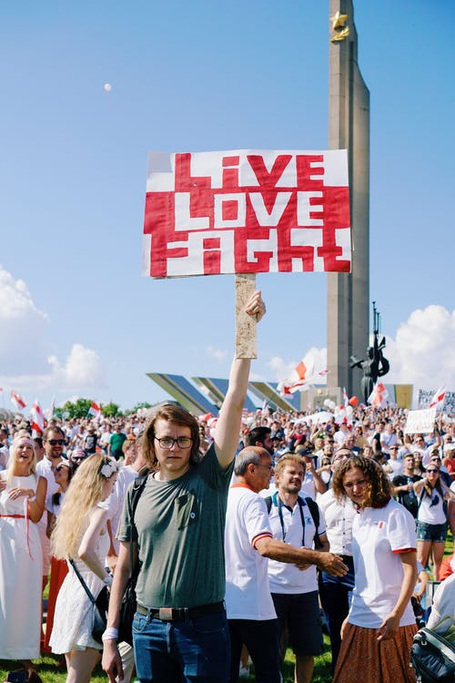 Manifestantes En Bielorrusia