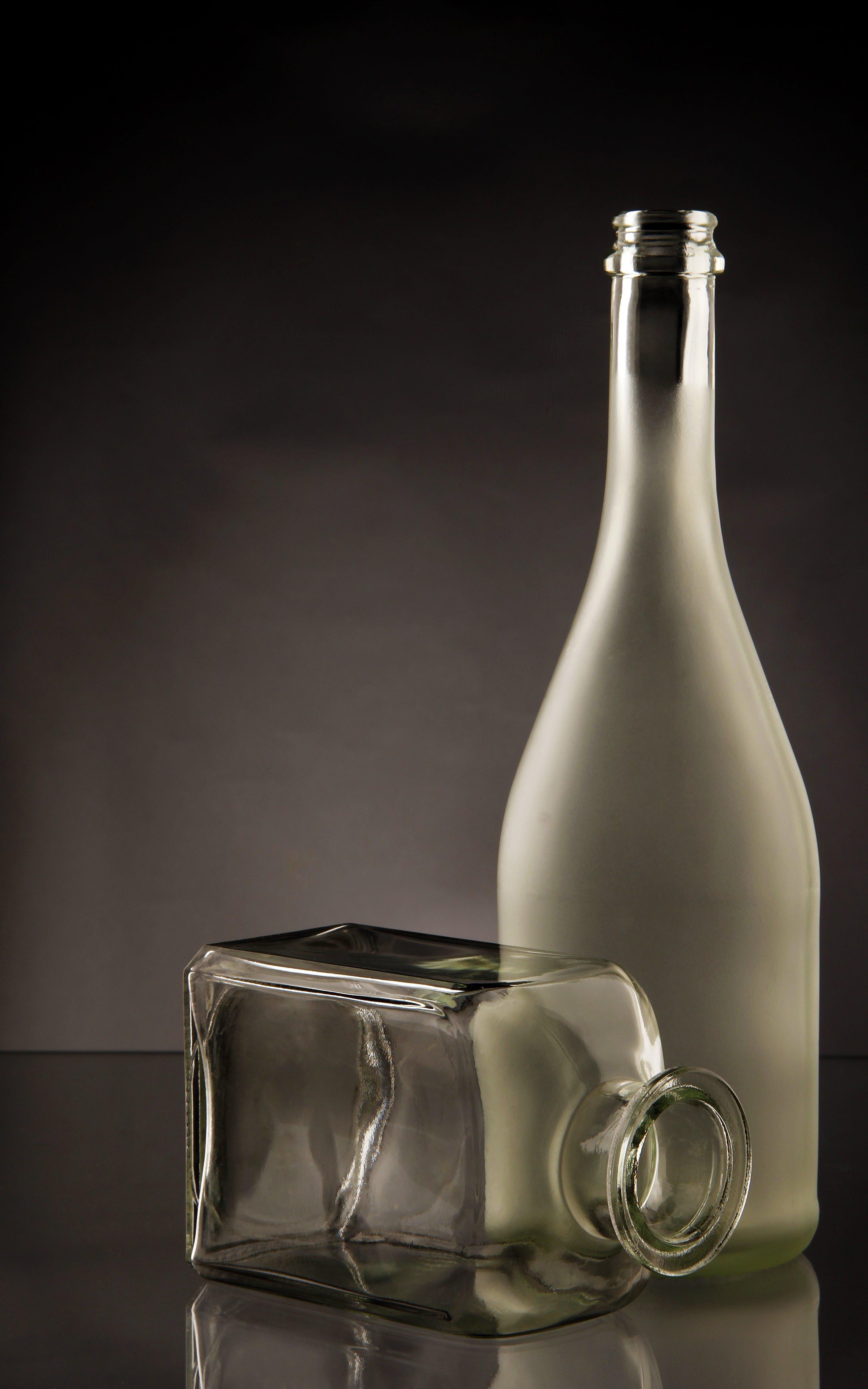 bottles, clear, glass