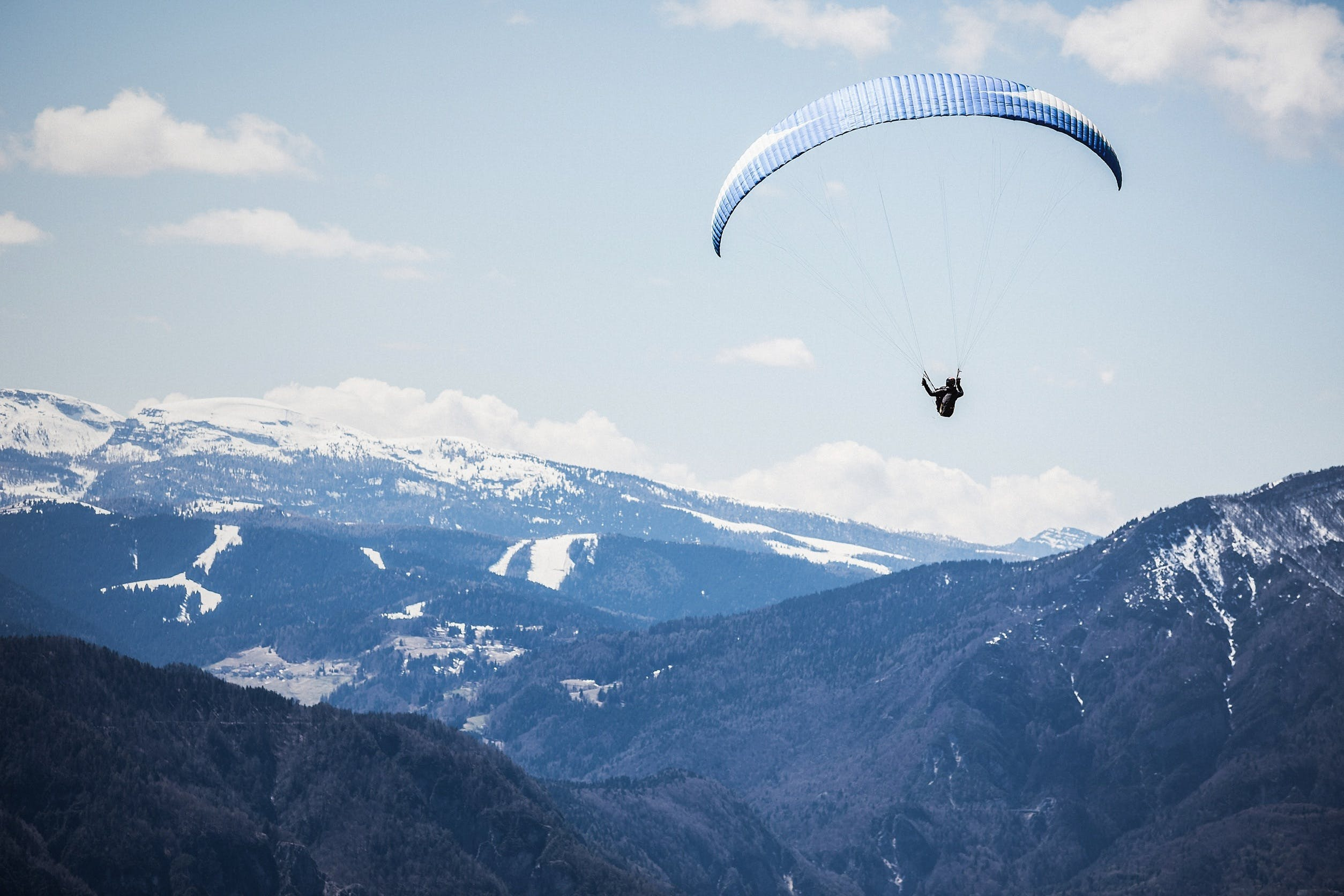Free stock photo of mountains, nature, man, flying