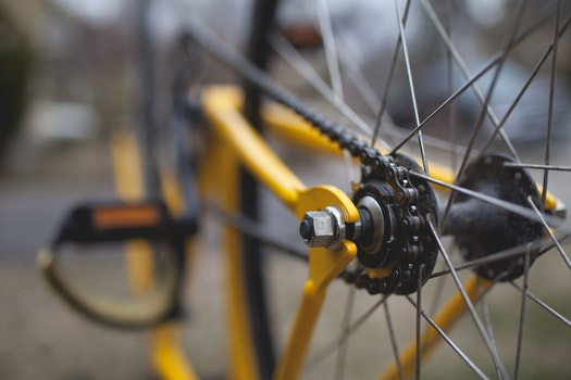 Silver Bicycle Rim