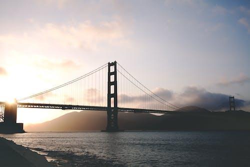 Δωρεάν στοκ φωτογραφιών με αμορτισέρ, απόγευμα, αυγή, γέφυρα