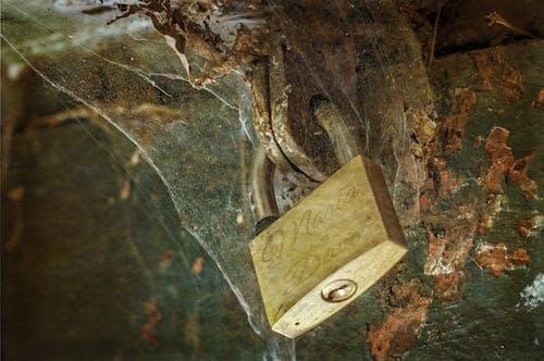 Darmowe zdjęcie z galerii z brudny, kłódka, pajęczyna, rdza