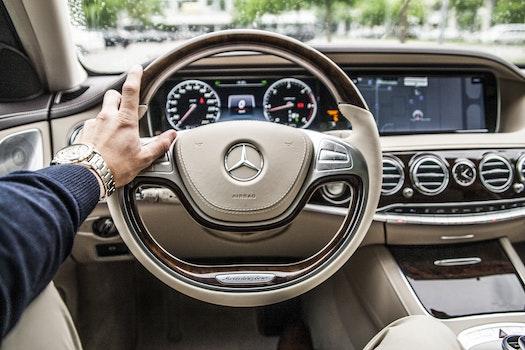 Grey Mercedes Benz Steering Wheel