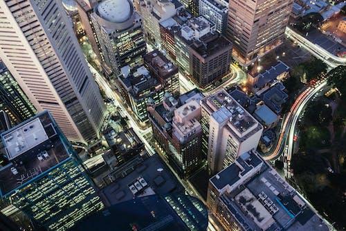 Fotobanka sbezplatnými fotkami na tému architektúra, budovy, dopravný systém, letecký