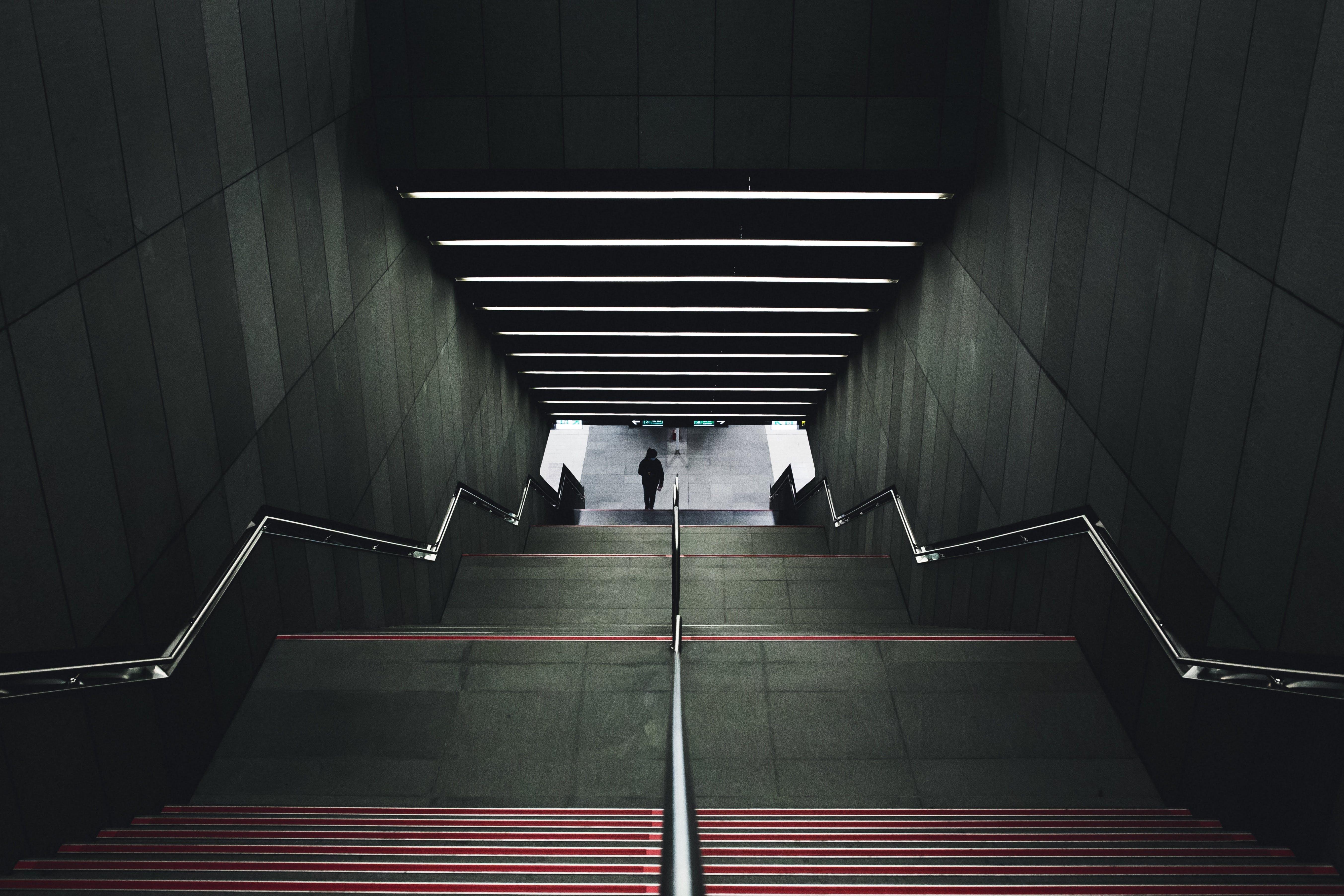 Free stock photo of stairs, lights, public transportation, underground