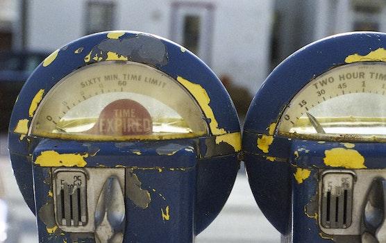 Blue Parking Meter