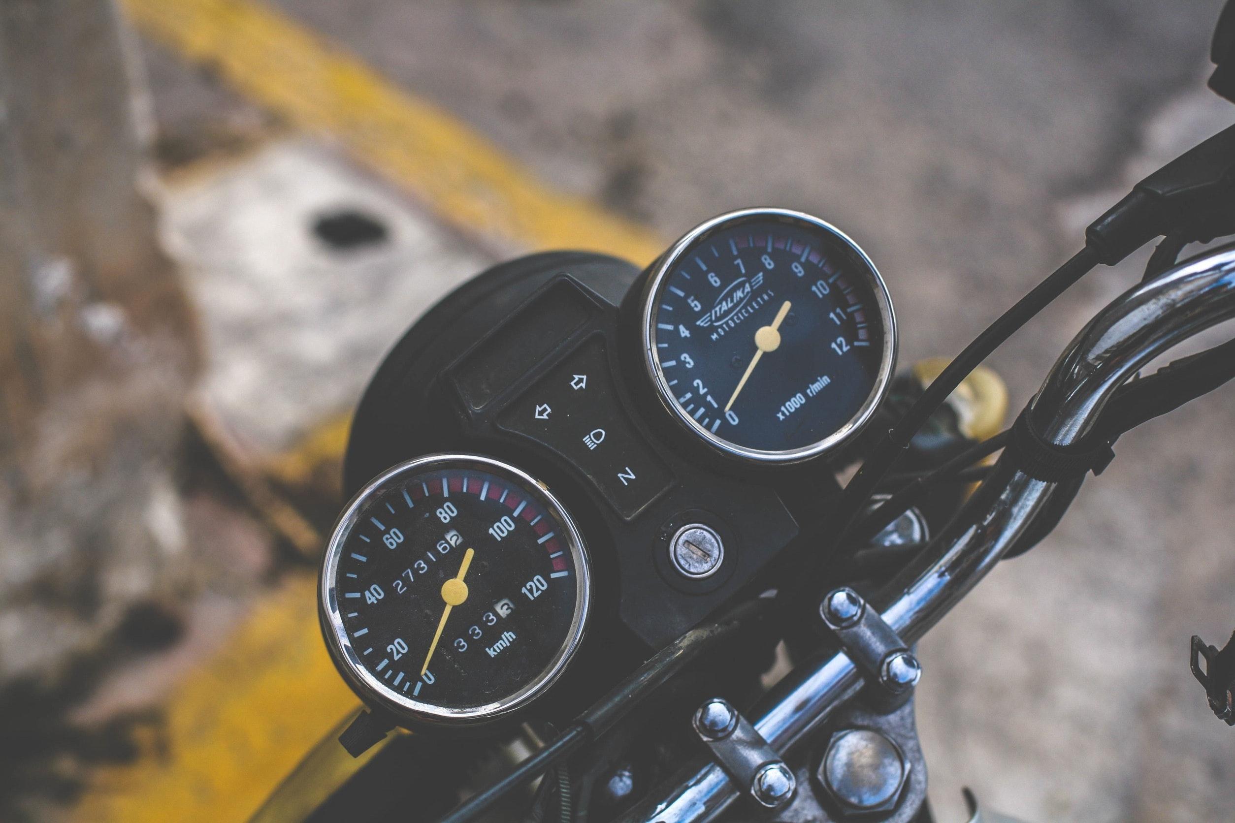 Free stock photo of bike, chrome, indicator