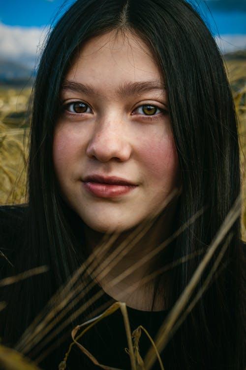 Free stock photo of cabello teñido, girl, heterocromia