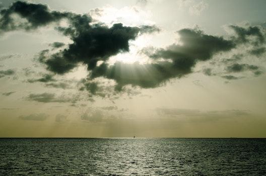 Free stock photo of sea, water, clouds, ocean
